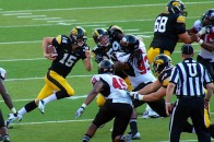 Rudock rushing on the read option.